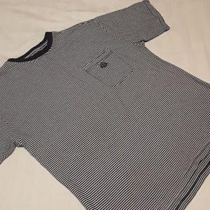 Vintage Izod Striped pocket T-Shirt Sz XL